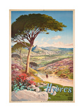 Poster Advertising Hyeres  France  1900