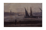 The Thames from Battersea Bridge  1863