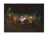 A Magnificent Garland of Fruit and Flowers  1840