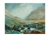 Ingleborough from under White Scar  Yorkshire Limestone Strata  1868