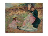 Madame Guillaumin and Her Daughters; Madame Guillaumin Et Ses Filles  C1892