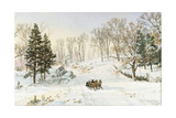 Winter on Ravensdale Road  Hastings-On-Hudson  New York  1890 (Watercolor and Gouache on Paper)
