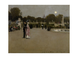 Luxembourg Gardens at Twilight  1879
