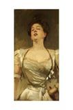 Mrs George Batten Singing  1895
