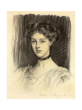 Portrait of Eva Katherine Balfour  Later Lady Buxton (1889-1978)  1911 (Black Chalk on Paper)