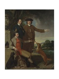 Self Portrait with Father and Brother  C1760-62