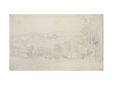 Distant View of Lowther Castle (Park Scene)  1809 (Graphite on Wove Paper)
