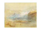 Falls of the Rhine at Schaffhausen  1841 (W/C  Pen  Red Ink and Grey Wash on White Wove Paper)