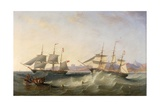 A Clipper and an East Indiaman Leaving Port