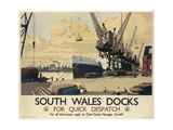 Poster Advertising South Wales Docks  1947
