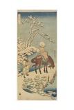 Horseman in Snow  1833-1834