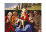 Virgin and Child with Saints Jerome  Peter  Clare and Francis  C1505-10