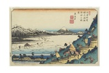 No31: View of Lake Suwa as Seen from Shiojiri Pass  1835-1836