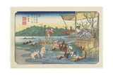 No13 View of the Tori-Kawa River at Kuragano Station  1830-1844