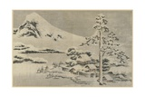 Seaside Village in Snow  1814