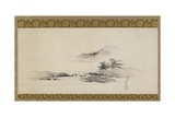 Landscape  Edo Period  C1801-02 (Ink and Colour on Paper Mounted as Hanging Scroll)