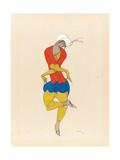 Maria Kuznetsova  Costume Design for 'L'Adoration'  1922 (Pencil and Gouache on Paper)