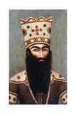 Qajar Royal Portrait; Probably Fath 'Ali Shah (1772-1834)  C1810