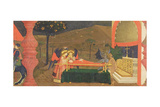 Predella of the Profanation of the Host: the Body of the Jewish Pawnbroker Guarded by Angels and De
