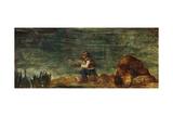 The Fisherman on the Rock; Le Pecheur Au Rocher  1862-1864
