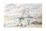 Ciboure  Saint-Jean-De-Luz  1920 (W/C and Chalk on Paper Laid Down on Board)