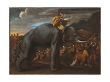 Hannibal Crossing the Alps on an Elephant