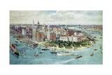 A Bird's Eye View of Lower Manhattan  1911