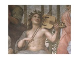 Parnassus  Detail of Apollo Playing a Viola Da Braccio  from the Stanza Della Segnatura  1511