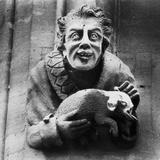 Carving of a Man Holding an Animal  Toddington Manor  Gloucestershire