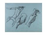 Trois Etudes De Mains (Three Studies of Hands)  C 1876