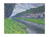 Canal in Flanders; Le Canal En Flandre Par Temps Triste  1894