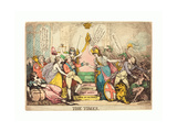 The Times  Probably 1783  Hand-Colored Etching  Rosenwald Collection