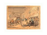 The Disappointed Epicures  1787  Hand-Colored Etching  Rosenwald Collection
