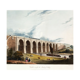 Viaduct across the Sankey Valley  1831 (Colour Aquatints  Partly Hand-Coloured)