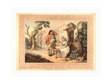 Rustic Courtship  1785  Hand-Colored Etching and Aquatint  Rosenwald Collection