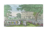 Miss Worthy's Marriage Dr Syntax in the Chair Coloured Aquatint Circa 1820 Food and Drink