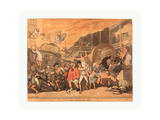 The Inn Yard on Fire  1791  Hand-Colored Etching and Aquatint  Rosenwald Collection