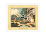 Butterfly Hunting  1806  Hand-Colored Etching  Rosenwald Collection