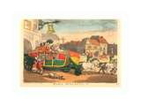 Paris Diligence  Probably 1810  Hand-Colored Etching  Rosenwald Collection