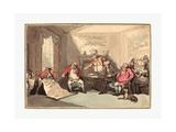 A Militia Meeting  Probably 1799  Hand-Colored Etching  Rosenwald Collection