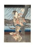 A Cool Summer Evening at Ryogoku  1848-51