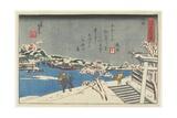 Snow at Matsuchi Hill  1847-1852
