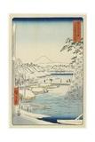 Riverbank of Sukiya in the Eastern Capital  April 1858