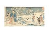 An Eastern Genji in a Snowy Garden  1854