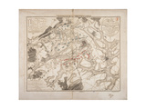 Battle of Waterloo  Map of the Battlefield  Engraved by Jacowick  1816