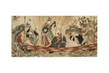 Actors as the Seven Gods of Fortune on a Treasure Ship  1800-05