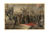 Queen Victoria Visiting HMS Resolute  16th December  1856  Published 1859