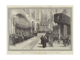 Consecration of the Restored Schlosskirche at Wittenberg  by the German Emperor