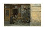 Cafe in Dieppe  C 1884-5