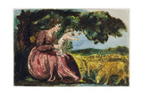 Spring  from 'Songs of Innocence'  1789 (Coloure-Printed Relief Etching with W/C on Paper)